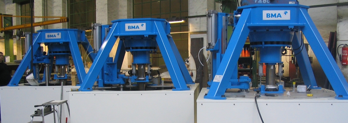 BMA centrifugals in a production hall