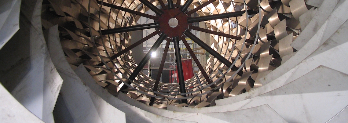 Inside view of drum dryer