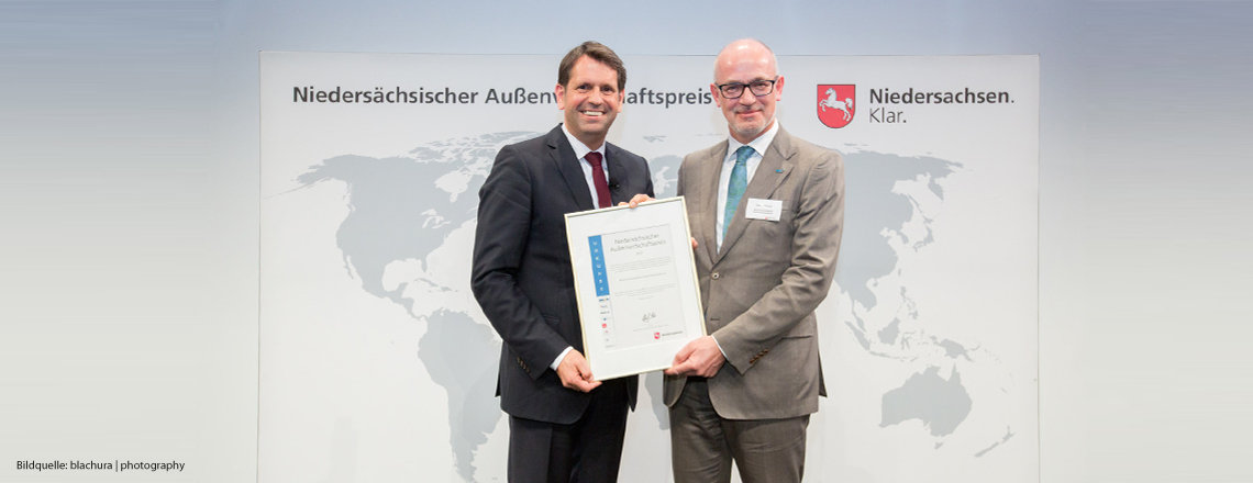 Lower Saxony Foreign Trade Award for BMA