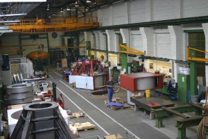 View of machinery construction plant