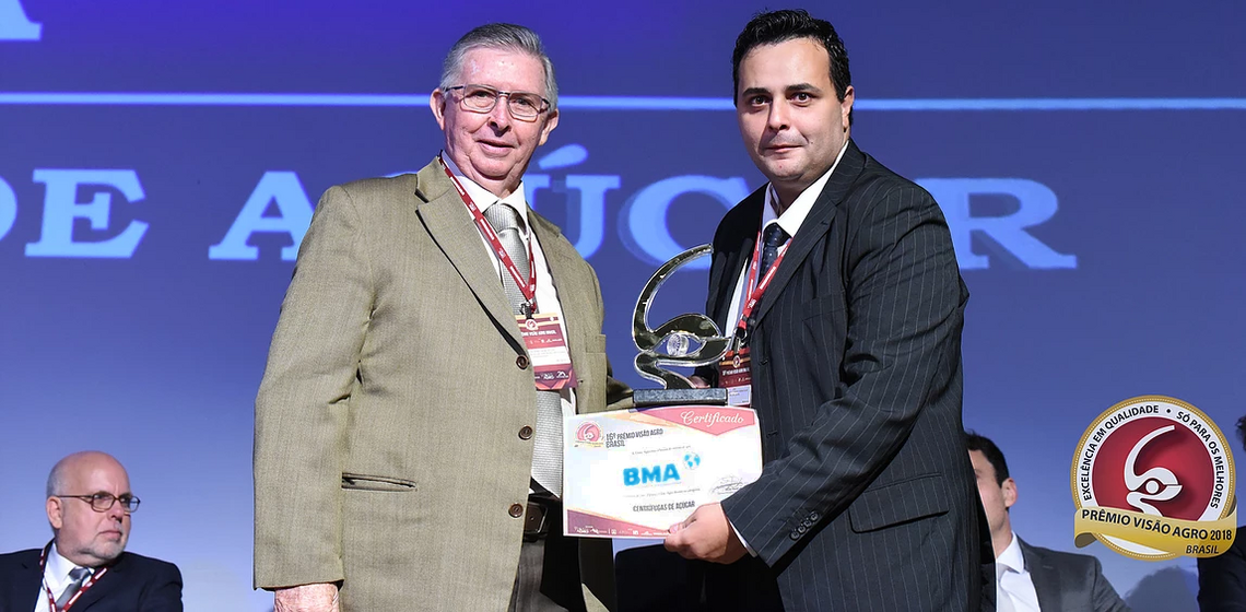 "BMA Brazil wins award in the category ""Sugar Centrifugals"""