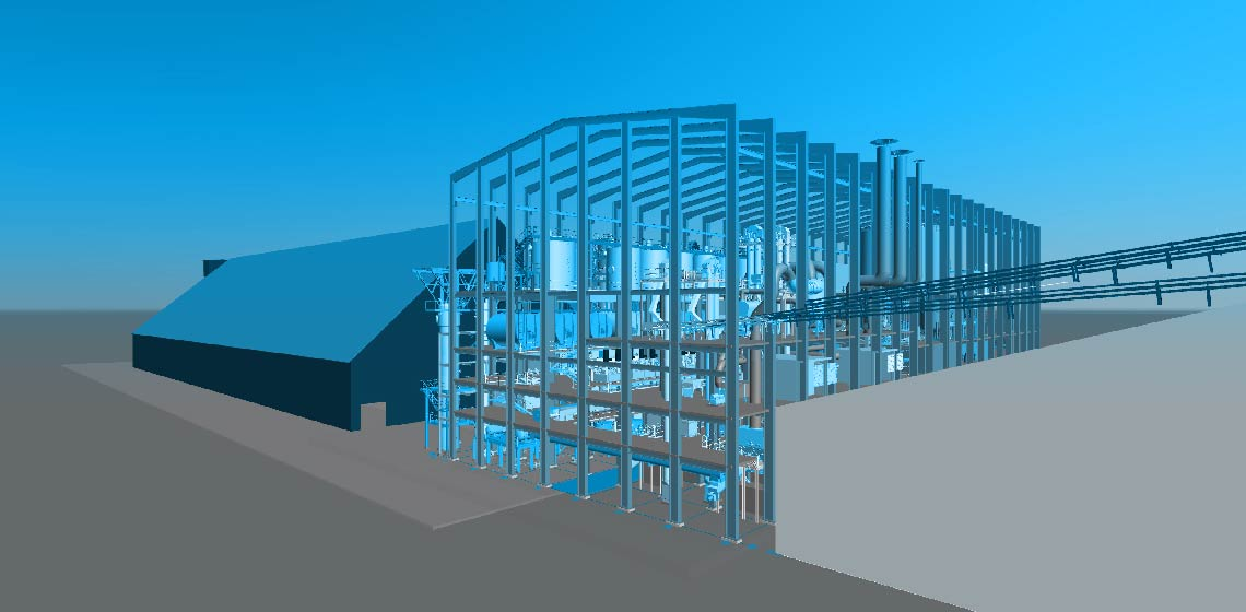 CGI rendering of the factory complex in Bangladesh as planned by BMA AG